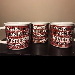 Holiday themed mug set of three